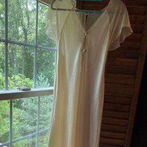 VTG Valentino Intimo Nightgown White Ivory